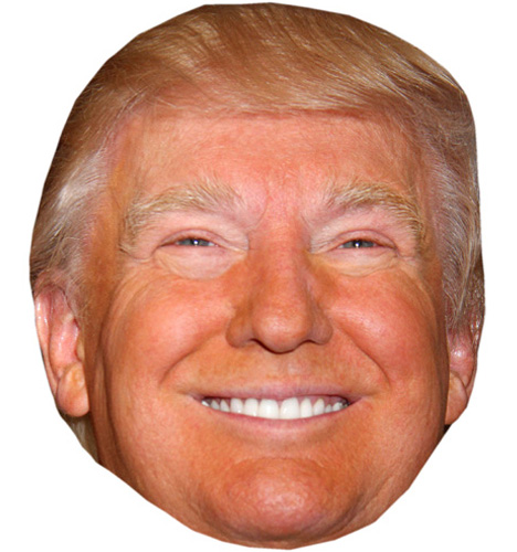 It's just a photo of Impertinent Donald Trump Mask Printable