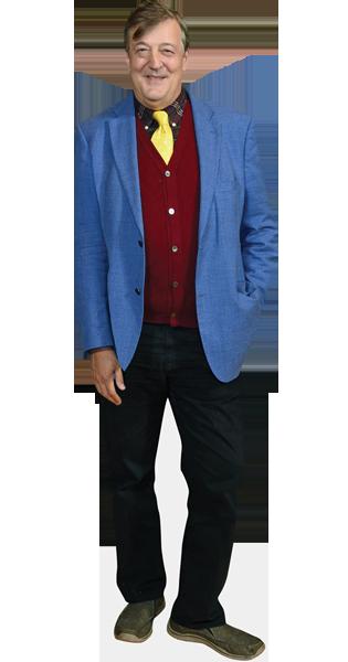 Stephen Fry Mini Cutout Blue Blazer