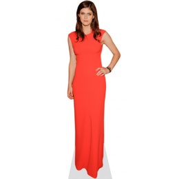 alexandra-daddario-red-dress-cardboard-cutout