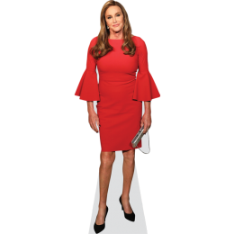 caitlyn-jenner-red-dress-cardboard-cutout