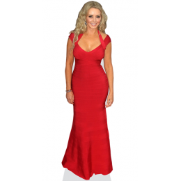 carol-vorderman-red-dress-cardboard-cutout