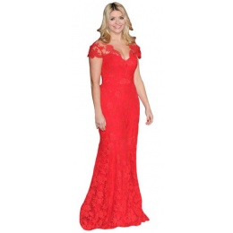 holly-willoughby-red-dress-cardboard-cutout