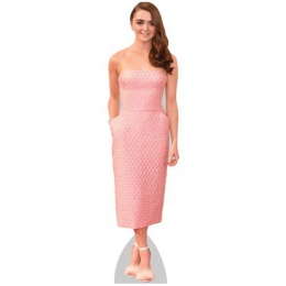 maisie-williams-pink-dress-cardboard-cutout