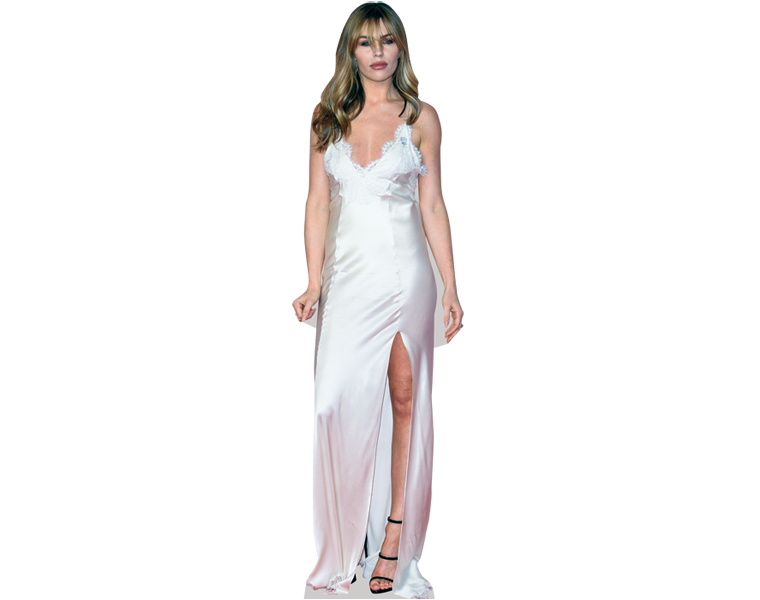 abby-clancy-white-dress-cardboard-cutout