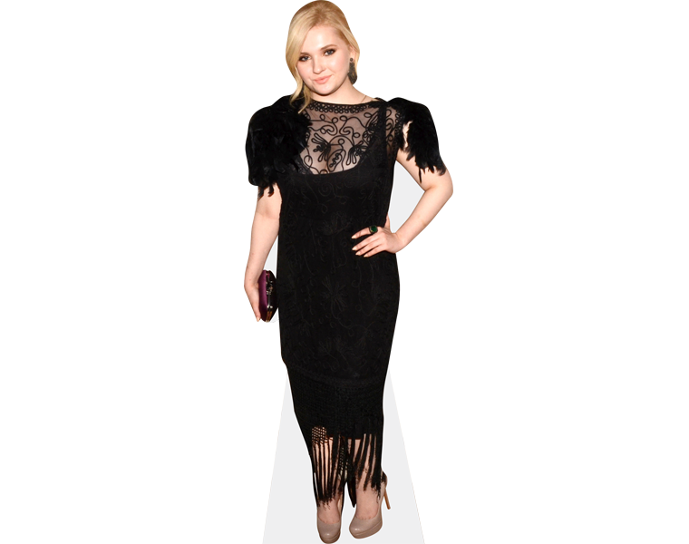 abigail-breslin-black-dress-cardboard-cutout