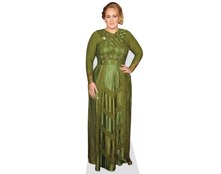 adele-green-dress-cardboard-cutout