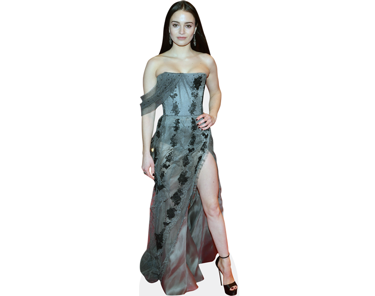 aisling-franciosi-long-dress-cardboard-cutout