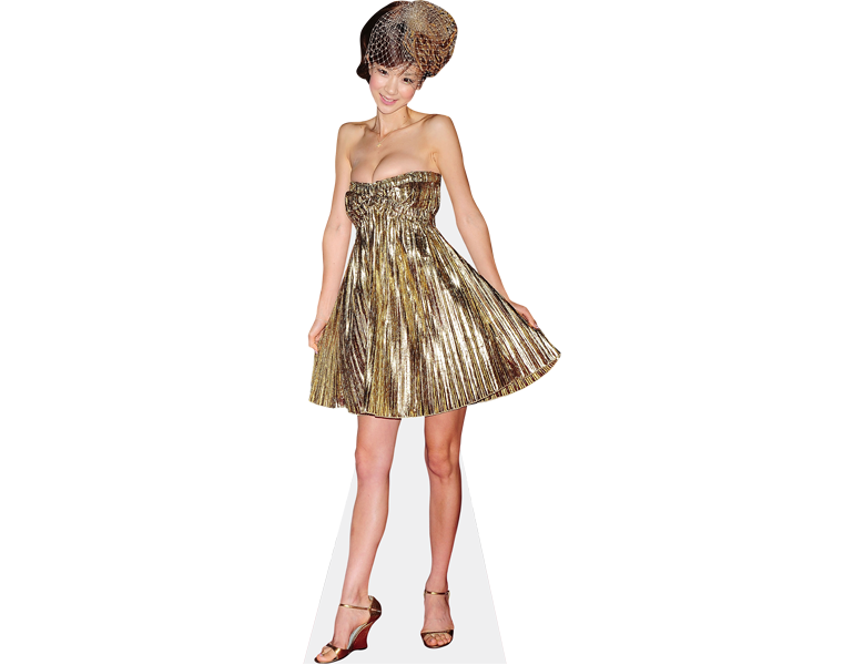 aki-hoshino-short-dress-cardboard-cutout