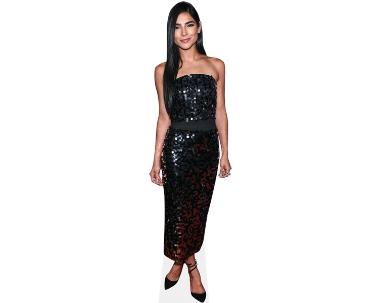 alejandra-espinoza-black-dress-cardboard-cutout