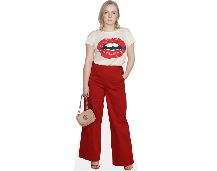 alexa-davies-red-trousers-cardboard-cutout