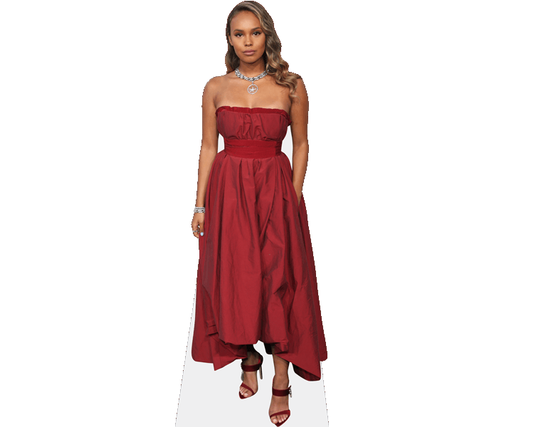 alisha-boe-red-dress-cardboard-cutout