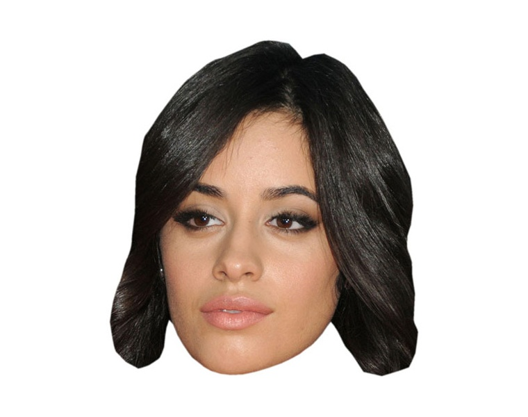 Celebrity Mask Card Face and Fancy Dress Mask Camila Cabello 2018