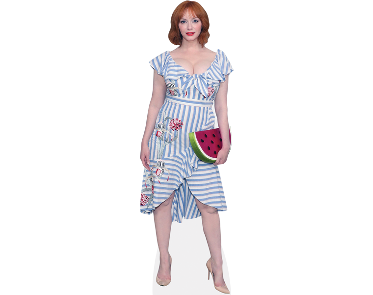 christina-hendricks-watermelon-purse-cardboard-cutout