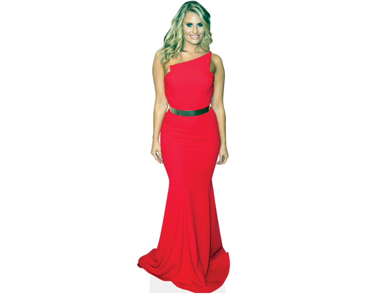 danielle-armstrong-red-dress-cardboard-cutout