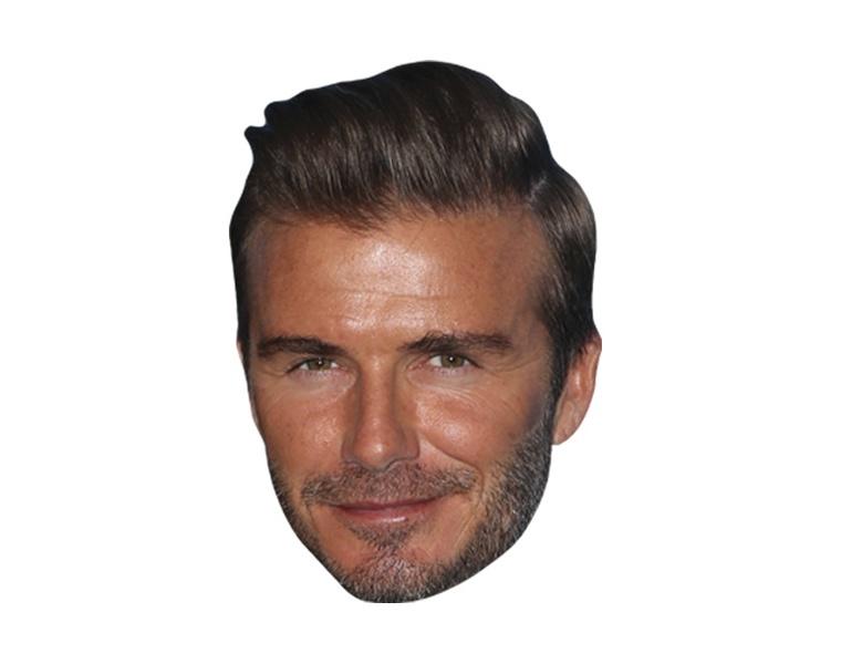 David Beckham Vip Celebrity Cardboard Cutout Face Mask