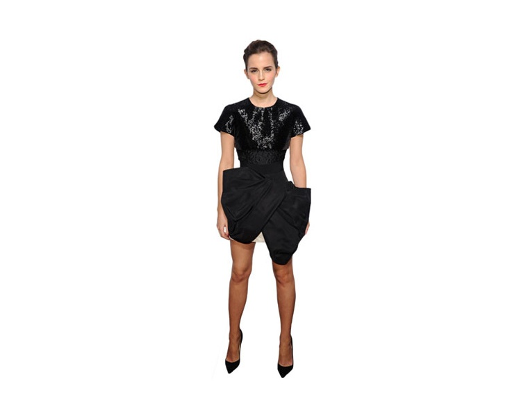 emma-watson-black-dress-cardboard-cutout