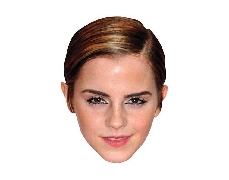 emma watson vip celebrity cardboard cutout face mask