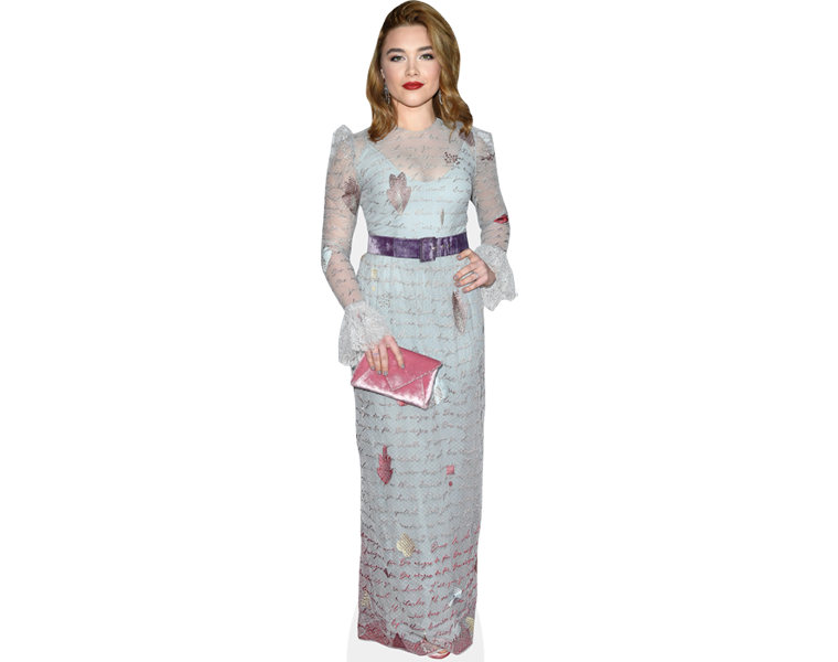 florence-pugh-blue-dress-cardboard-cutout