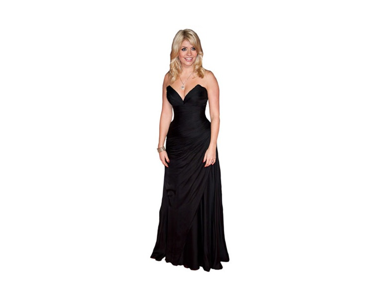 holly-willoughby-long-black-dress-cardboard-cutout