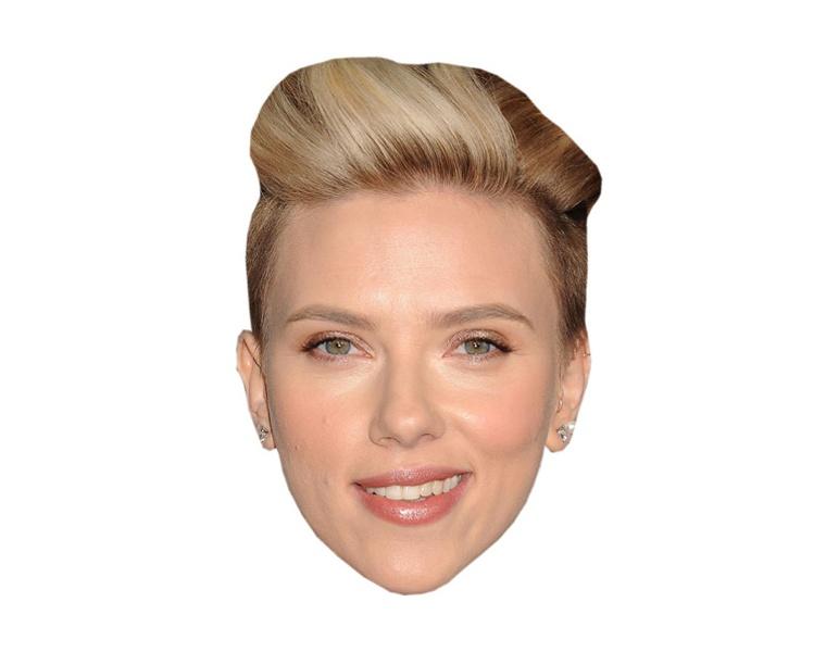 Scarlett Johansson Vip Celebrity Cardboard Cutout Face Mask